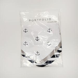PORTFOLIO Baby Bibs Pack of 3 Nautical 0-3M
